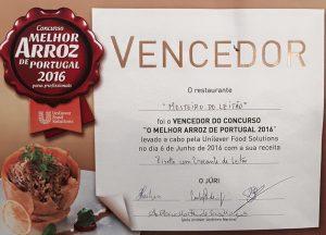 Melhor Arroz de Portugal 2016