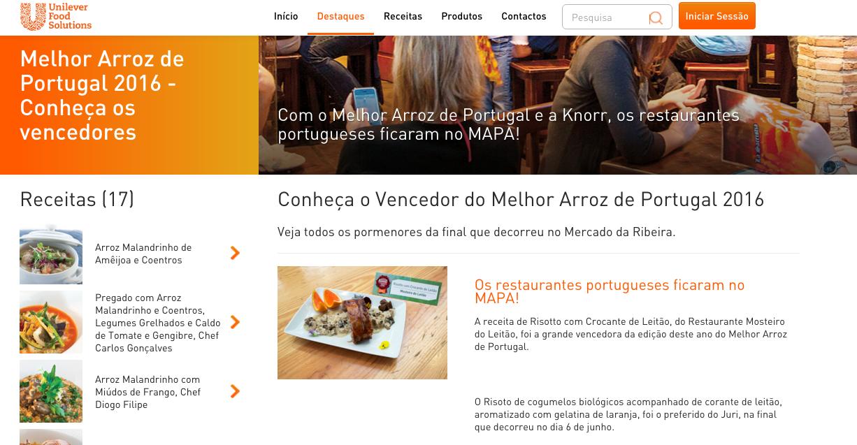 Unilever Melhor Arroz de Portugal